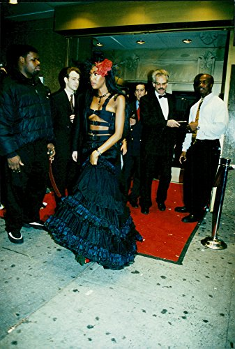 Vintage photo of Naomi Campbell is the hostess of a Halloween party at The Supper Club -