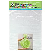 Large Clear Cellophane Bags, 6ct