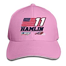 BOoottty 2016 Denny Hamlin USA Flag Flex Baseball Cap White