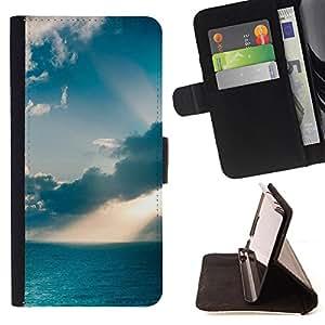 Dragon Case - FOR LG OPTIMUS L90 - Clear blue sky - Caja de la carpeta del caso en folio de cuero del tir¨®n de la cubierta protectora Shell