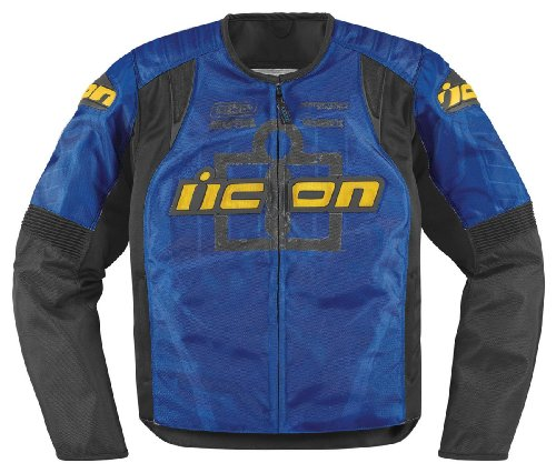 Icon Overlord Type 1 Jacket , Apparel Material: Textile, Size: XL, Primary Color: Blue, Gender: Mens/Unisex 2820-2120