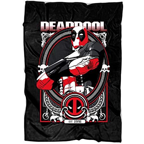 ROEBAGS Deadpool Cracked Logo Soft Fleece Throw Blanket, Face Mask Deadpool Fleece Luxury Blanket (Medium Blanket (60