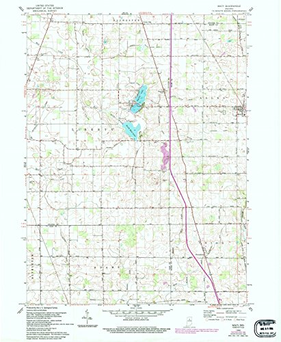 Indiana Maps | 1960 Macy, IN USGS Historical Topographic Map |Fine Art Cartography Reproduction - Indiana In Macys