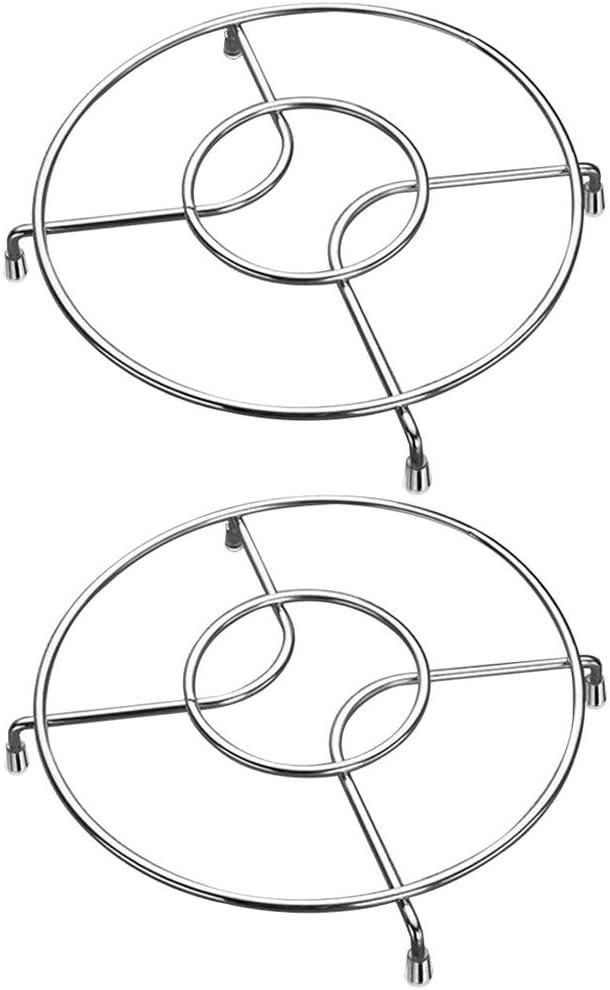 2pcs Chrome Hot Pot Rack Pan Stand Cooker Pressure Cooker Rack for Cans Ovenware Gobesty Dessous de Plat en Acier Inoxydable Casserole Ploves 20 x 20 x 2.5cm