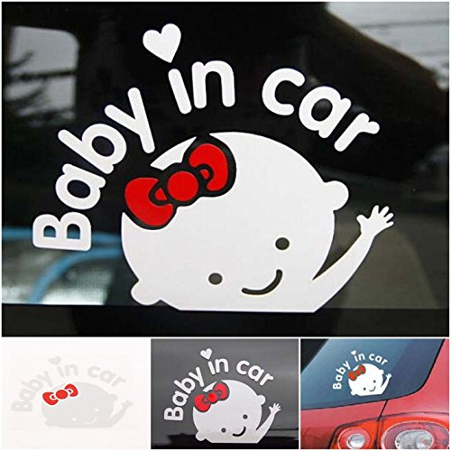 1 Pc Heart-stopping Unique Baby In Car Window Vinyl Sticker Cute on Board Safety Signs Patches Kids Room Luggage Decal Laptop Home Art Wall Funny Decor Family Stickers Decals Girl - Frames Police India