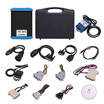 FVDI 2018 OBDII Full System Diagnostic Tool ECU Programmer Diagnostic  Scanner Key Programmer Key Immobilizer Read Pin Code FVDI Abrites Commander  Most