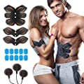 ROKOO Ultimate Abs Stimulator Muscle Trainer Equipment for Men Women with 6 Modes and 10 Levels of Intensity at Home Gym Office Travel