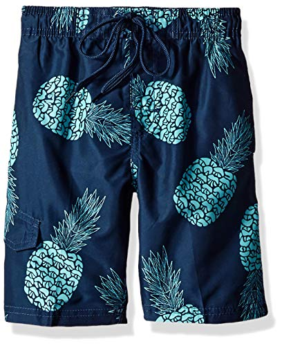 Kanu Surf Toddler Boys' Specter Quick Dry Beach Swim Trunk, Pina Navy, 3T (Boy Swimsuit Toddler)