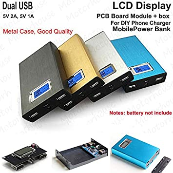 Amazon.com: FidgetKute - Cargador de batería de 5 V 2 A LCD ...