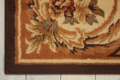 Nourison Paramount Chocolate Rectangle Area Rug, 7-Feet 10-Inches by 10-Feet 6-Inches 7 10 x 10 6