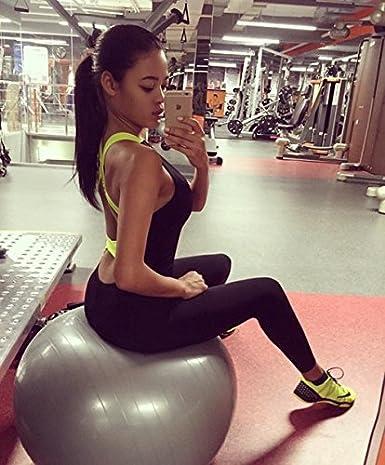 Minetom Donna Estate Senza Maniche Maglia Pantaloni Patchwork Di Yoga Di Sport Tuta Senza Schienale Elegante Bandage Tuta Pagliaccetto