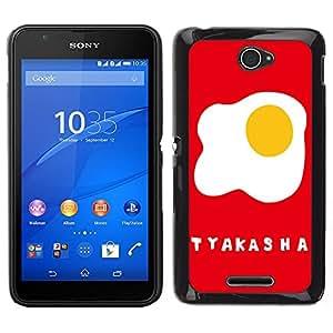 Dragon Case - FOR Sony Xperia E4 - Lovely Fried eggs - Caja protectora de pl??stico duro de la cubierta Dise?¡Ào Slim Fit