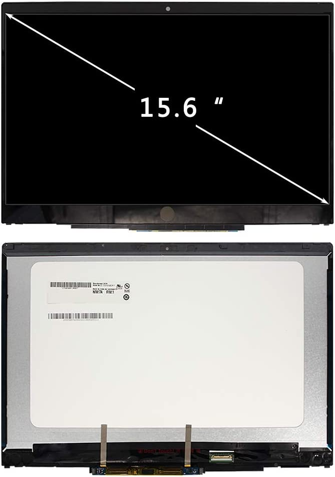 FIRSTLCD LCD Touch Screen Replacement L20826-001 for (HP) Pavilion X360 15-CR0055OD 15-CR0087CL 15-CR0095NR 15-CR0056WM 15-CR0051OD (Support Stylus) Digitizer Display Assembly 15.6""