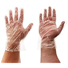 Winco Clear Disposable PE Gloves, Large, 500-Piece