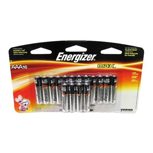Energizer Alkaline Batteries Size Aaa 1.5 V Pack / 16