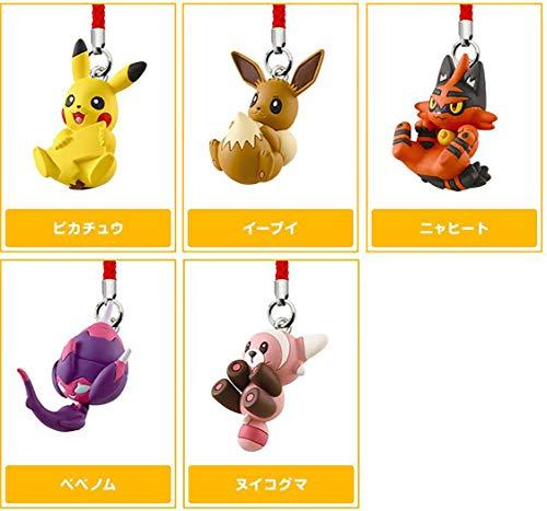 Pokemon Sun & Moon Netsuke Pikachu, Stufful, Poipole, Torracat, Eevee Capsule Figure Collectibles Anime Takara Tomy Arts