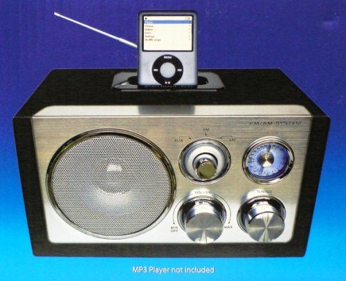 Hercules I-SP900 FM/AM Stereo Speaker with Built-In Docking Station for iPod and MP3 / MP4 Players and for all kinds of Personal Portable CD and Cassette Players (Walkmans and Discmans) (Built In Ipod Docking)