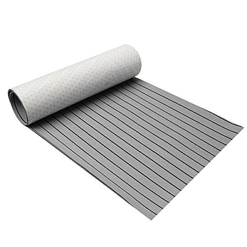 ChaRLes 900x2300x6mm EVA Schaum grau & Schwarzr MeeresBoden Faux Teak Stiefel Decking Sheet