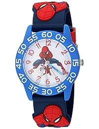 Marvel Boy's 'Spider-Man' Quartz Plastic Casual Watch, Color:Blue (Model: WMA000168)