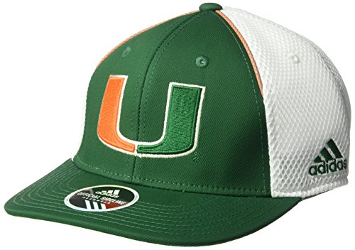 Hurricane Spring (adidas NCAA Miami Hurricanes Adult Men Spring Game Structured Adjustable Hat, One Size, Green)