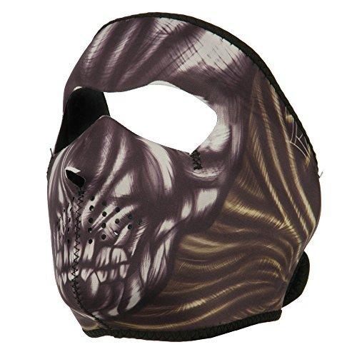 Neoprene Full Face Mask - Ancient Skull (Skull Mask Ancient)