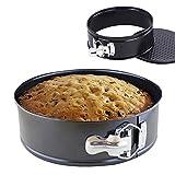 """iPstyle Non Stick Round Springform Cake Pan 8 Inch Springform Pan Cheesecake Pan Leakproof Cake Pan Bakeware Loose Base Cake Baking Tin Interlocking Bakeware (Round - 8"""" 20CM)"""