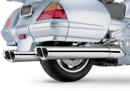Cobra Scalloped Billet Tip Touring Slip-On Mufflers for 2001-2010 Honda GL1800