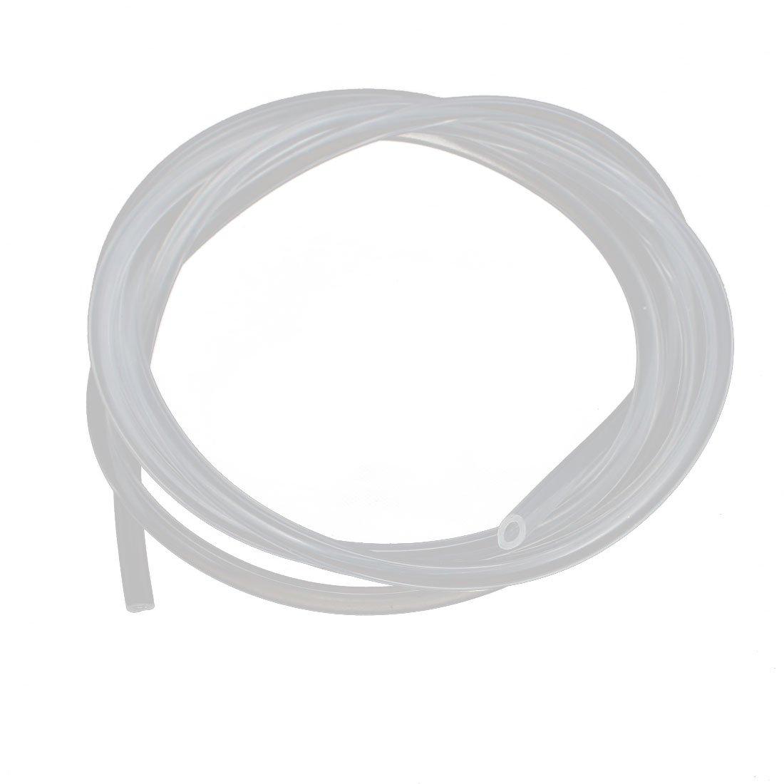 Tubo de silicona Sourcingmap de 2 mm de di/ámetro x 6 mm de di/ámetro externo y 2 m de di/ámetro exterior tubo de goma de silicona flexible para transferencia de bomba transparente