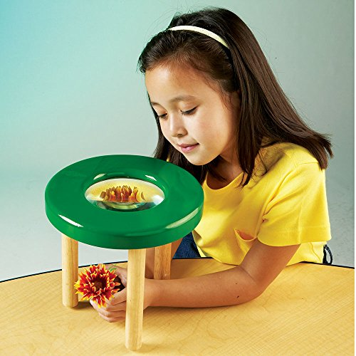 Learning Resources Tabletop Tripod Magnifier, 4x Magnifier by Learning Resources (Image #1)