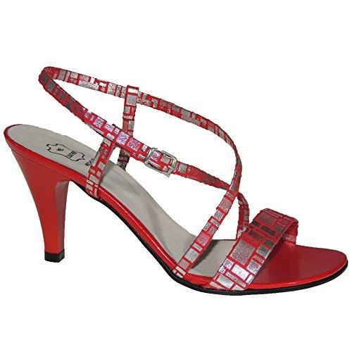 Fw Rojo Modelo Vestir Aguja 0851 Mujer Sandalia Para Taón wxCqaRzwZ