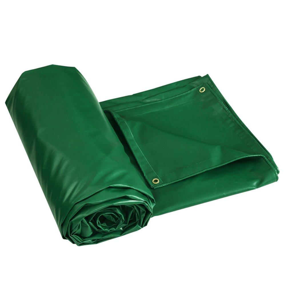 JINSH Regenfestes Tuch wasserdicht Plane LKW Plane Outdoor Sonnenschutz staubdicht Winddicht Hochtemperatur Anti-Aging, grün (Farbe   Grün, Größe   6x5M)
