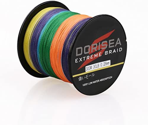 Dorisea Extreme Braid 100 Pe Multi-Color Braided Fishing Line 109Yards-2187Yards 6-550Lb Test Fishing Wire Fishing String Incredible Superline Zero Stretch
