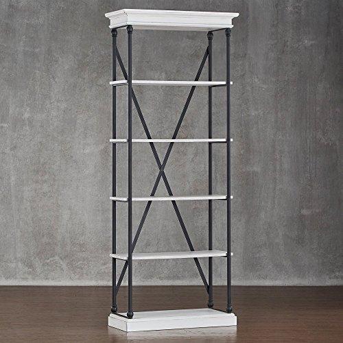 (Weston Home Oak Driftwood Shelving Bookcase)