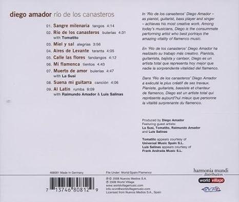 Rio de Los Canasteros: Amador,Diego: Amazon.es: Música