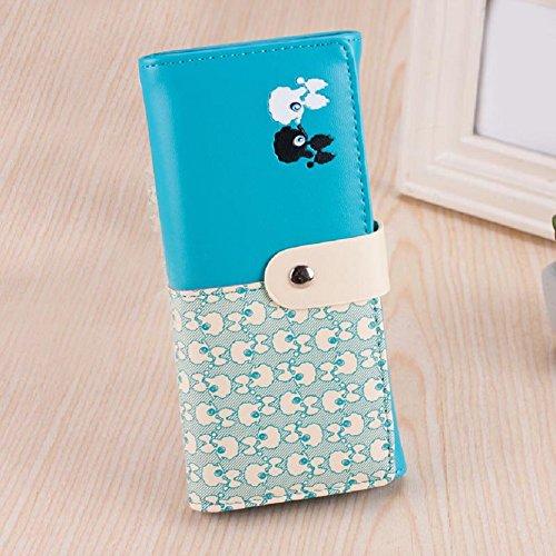 Coromose® Women Clutch Card Holder Money Clip Bags Handbag Wallet (Blue)