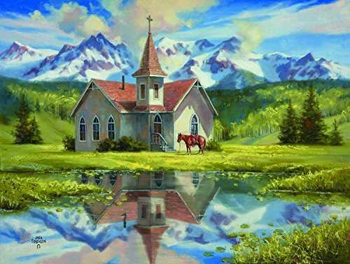 Almost Heaven 500 Piece Jigsaw Puzzle by SunsOut - Chapel theme