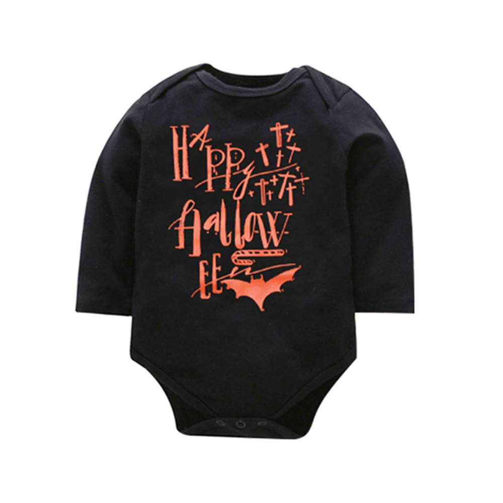 Hatoys Halloween Outfit Set Baby Boy Girl Pumpkin Print Top Blouse Pants Cap
