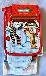 Ethel May - Juego de 3 paños de Cocina navideños, diseño navideño de Navidad,