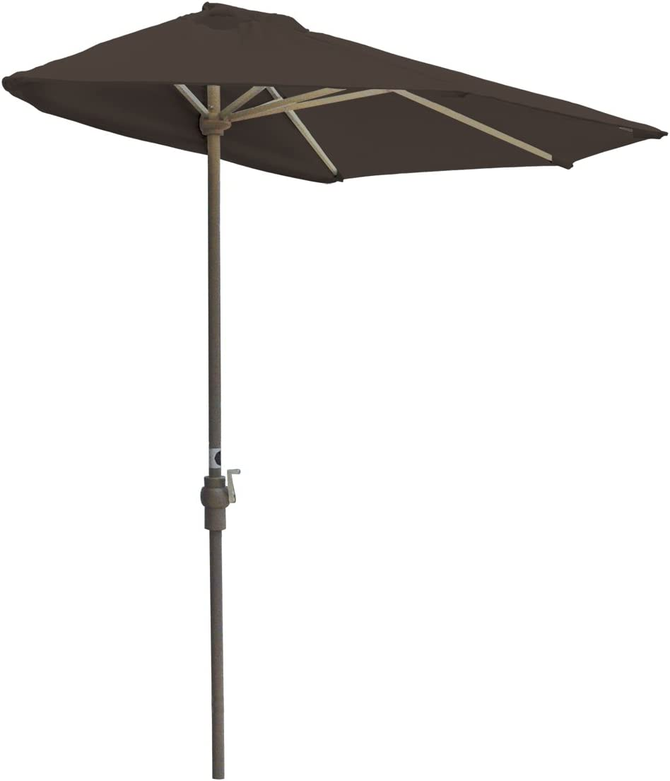 Blue Star Group Off-The-Wall Brella Olefin Half Umbrella, 7.5 -Width, Chocolate