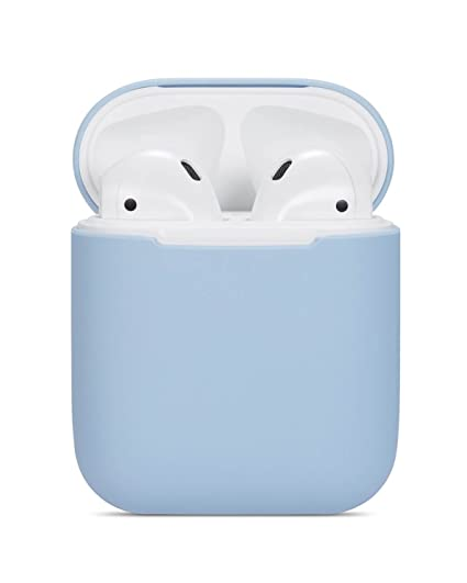 size 40 4e412 d6076 Airpods Case Soft Silicon Skin and Cover with Utral Slim 0.8mm Compatible  Apple Airpods Charging Case - Sky Blue