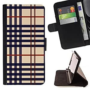 DEVIL CASE - FOR Sony Xperia M2 - Cloth texture - Style PU Leather Case Wallet Flip Stand Flap Closure Cover