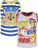 Nickelodeon Paw Patrol Boy's Fashion Tank Tops (2 Pack), Ruff Rescue, Size 3T