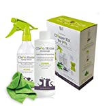All Natural Probiotic Pet Cleaning Kit - Powerful Concentrated Biodegradable Formula that Permanently Removes Pet Stains and Odors on Contact, 8 fl oz - Makes up to 44 full Spray Bottles!