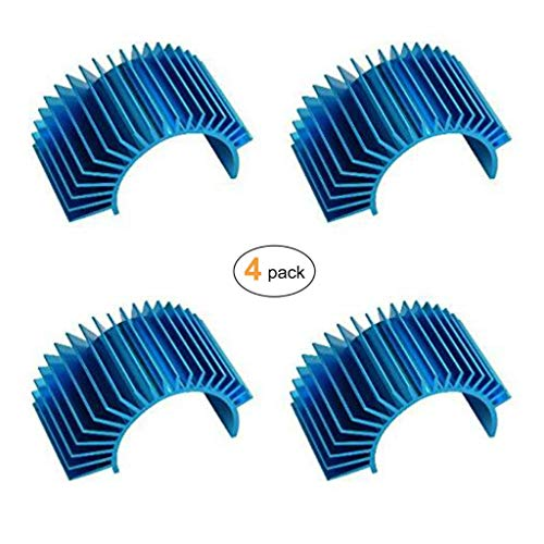 - JMAF (4-Pack) Aluminum Electric Engine Motor Heatsink Fins Cooling for RC 540 550 Size Brushed Brushless RC Car Accessories (Blue)