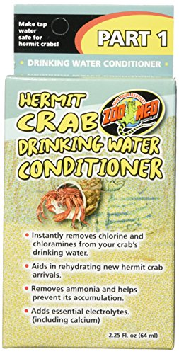 (Zoo Med Laboratories SZMHC90 Hermit Crab Drinking Water Conditioner 2.25 Fl. OZ)