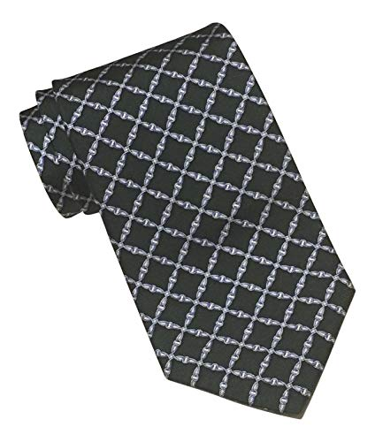 Brooks Brothers 346 Green Geometric Print Tie, about 3 inches -