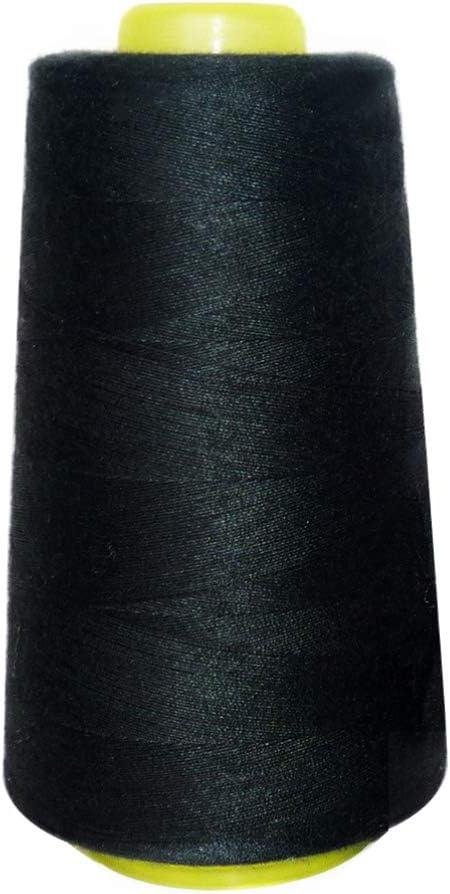 Milisten 3000 Yardas Hilos de Coser Bobinas de Hilo Cono para Serger Acolchado Tapicería Tapicería Cortinas Máquina de Coser (Negro): Amazon.es: Hogar