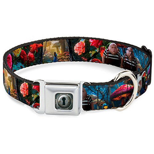 Buckle-Down Seatbelt Buckle Dog Collar - Alice in Wonderland Movie Encounters - 1.5