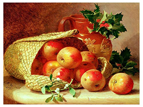 Apples by Eloise Harriet Stannard Fruit jug Basket Accent Tile Mural Kitchen Bathroom Wall Backsplash Behind Stove Range Sink Splashback One Tile 8