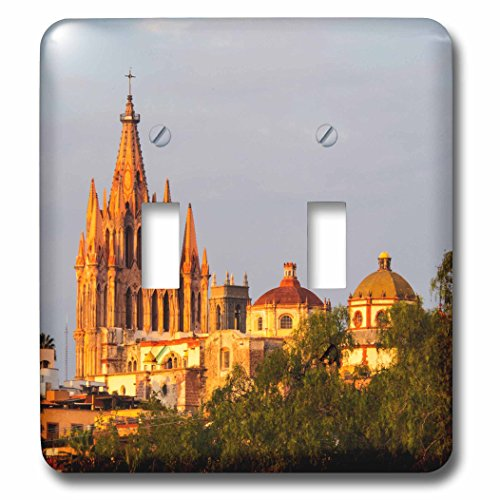(3dRose Danita Delimont - Churches - Mexico, San Miguel de Allende, Parroquia Archangel Church - Light Switch Covers - double toggle switch (lsp_278292_2))